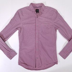 Armani Exchange Slim Striped Casual Button Up